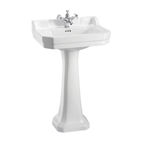 Burlington Edwardian 56cm Basin with Pedestal