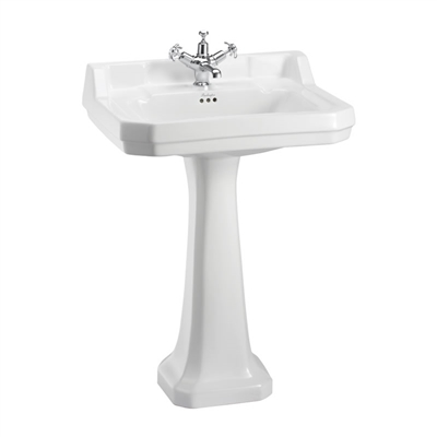 Burlington Edwardian 610mm Basin with Pedestal