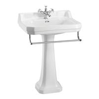 Burlington Edwardian 610mm Basin with Towel Rail & Pedestal
