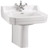 Burlington Edwardian 560mm Basin with Semi Pedestal