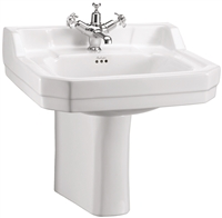 Burlington Edwardian 56cm Basin with Semi Pedestal