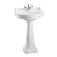 Burlington Edwardian Round 56cm Basin with Pedestal