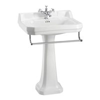 Burlington Edwardian 610mm Basin with Towel Rail & Regal Pedestal