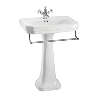 Burlington Victorian 61cm Basin with Towel Rail & Pedestal