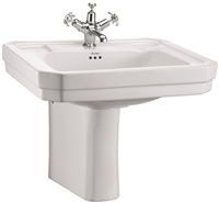 Burlington Victorian 560mm Basin with Semi Pedestal