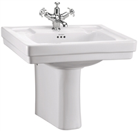 Burlington Contemporary 58cm Basin with Semi Pedestal