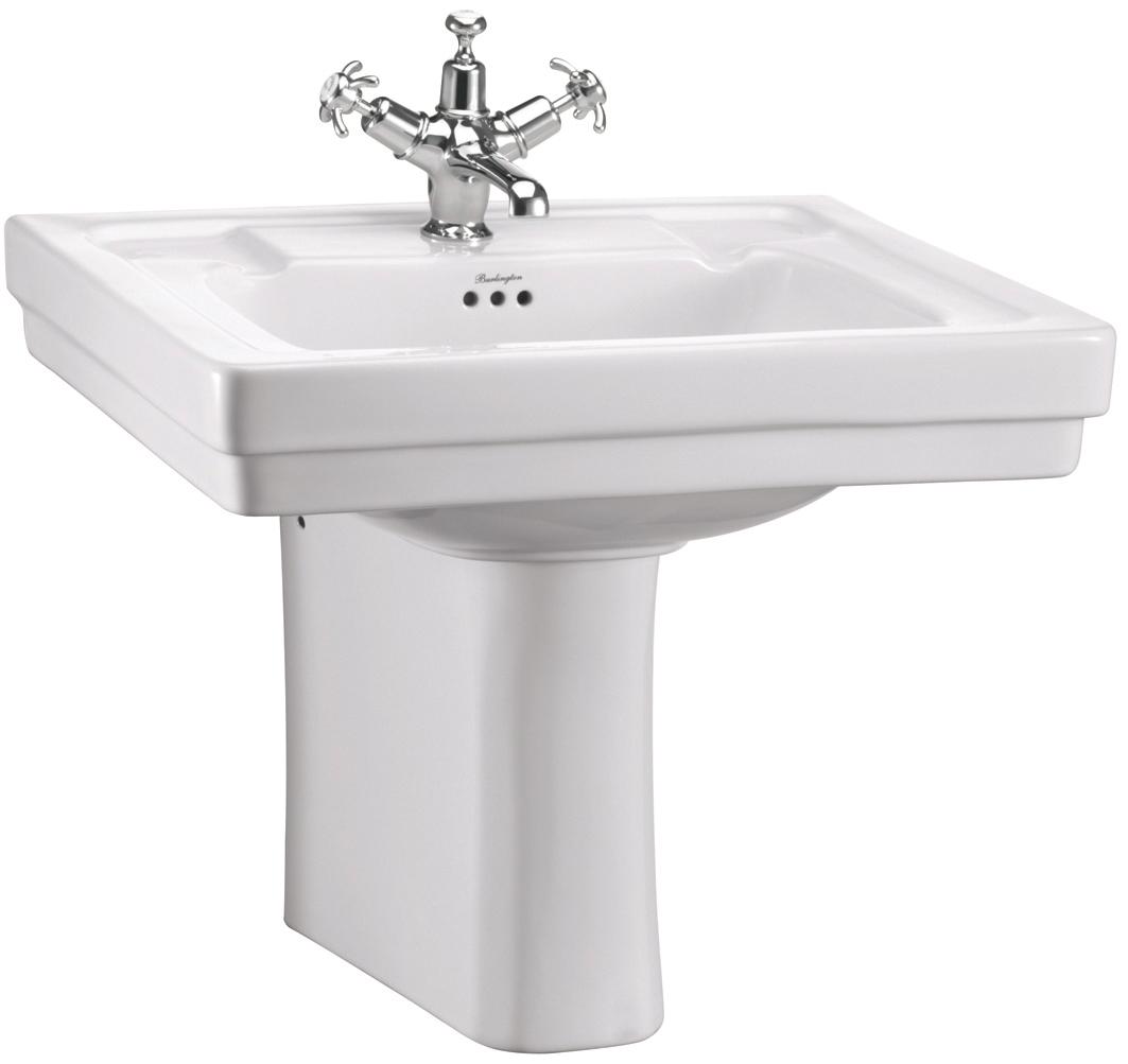 Bathroom Burlington Concept contemporary 575mm basin with semi pedestal