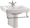 Burlington Contemporary 58cm Basin with Towel Rail & Semi Pedestal
