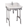 Burlington Classic 65cm Basin with Brushed Aluminium Stand