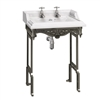 Burlington Classic 650mm Basin with Black Aluminium Stand