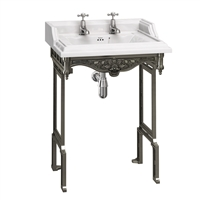 Burlington Classic 65cm Basin with Black Aluminium Stand
