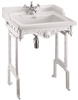 Burlington Classic 65cm Basin with White Aluminium Stand
