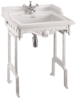 Burlington Classic 650mm Basin with White Aluminium Stand