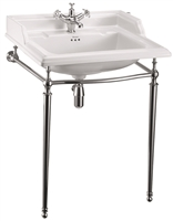 Burlington Classic 650mm Basin with Chrome Basin Stand