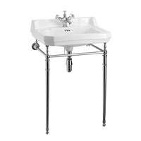 Burlington Edwardian 560mm Basin with Chrome Stand