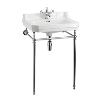 Burlington Edwardian 610mm Basin with Basin Stand