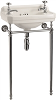 Burlington Edwardian 51cm Cloakroom Basin with Basin Stand