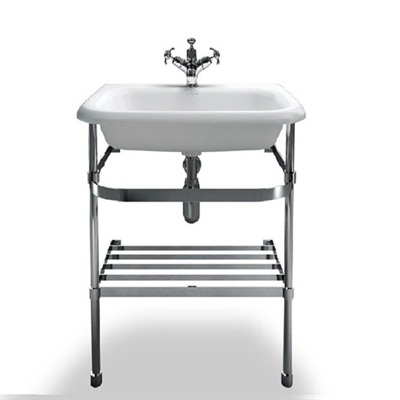 Burlington Medium Roll Top Basin with Stainless Steel Stand