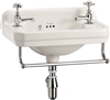 Burlington Edwardian 510mm Cloakroom Basin with Towel Rail