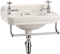 Burlington Edwardian 51cm Cloakroom Basin with Towel Rail
