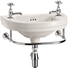 Burlington Edwardian 510mm Round Cloakroom Basin with Towel Rail
