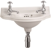 Burlington Small 505mm Curved Front Cloakroom Basin