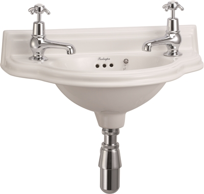 Burlington Small 51cm Curved Front Cloakroom Basin