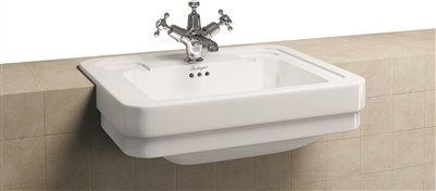 Burlington Semi Recessed 58cm Basin