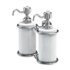 Burlington Chrome Double Soap Dispenser