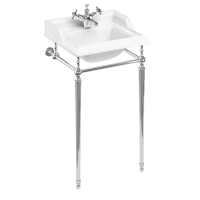 Burlington Classic 50cm Basin with Chrome Basin Stand