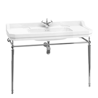 Burlington Edwardian 120cm Basin with Chrome Basin Stand