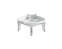 Heritage Dorchester Corner Basin With Brackets
