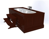 TRTC Wood Panelled Bath with Steps