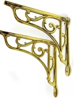 Heritage Brackets in Brass