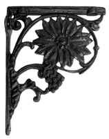 Sunflower Bracket in Cast Iron