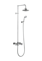 Burlington Eden Thermostatic Exposed Dual Outlet Shower Valve with Rigid Riser & Rose