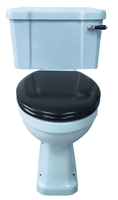 TRTC Blue Art Deco Close Coupled Toilet