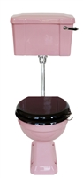 TRTC Pink Art Deco Low Level Toilet