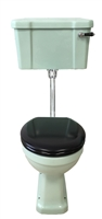 TRTC Green Art Deco Low Level Toilet
