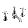 Burlington Claremont 3 Tap Hole Mixer with Pop Up Waste