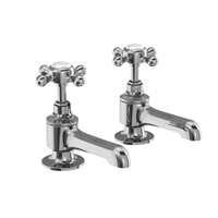 Burlington Stafford Bath Taps Deck Mounted