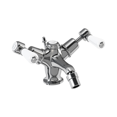 Burlington Kensington Bidet Mixer with Low Central Indice with Pop Up Waste