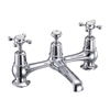 Burlington Claremont 2 Tap Hole Bridge Basin Mixer with High Central Indice with Plug and Chain Waste with Swivel Spout