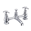 Burlington Anglesey 2 Tap Hole Bridge Basin Mixer with High Central Indice with Plug and Chain Waste with Swivel Spout