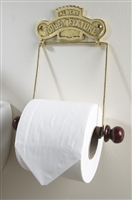 The Albert Toilet Roll Holder Brass