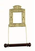 The Globe Toilet Roll Holder Brass