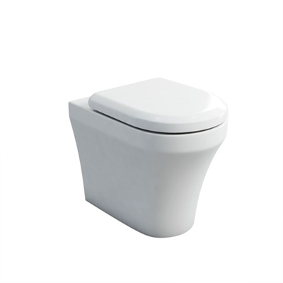 Britton Fine S40 Back to Wall Pan with Soft Close Angled Seat