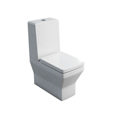 Britton Cube S20 Close Coupled WC with Angled Lid Cistern & Soft Close Seat