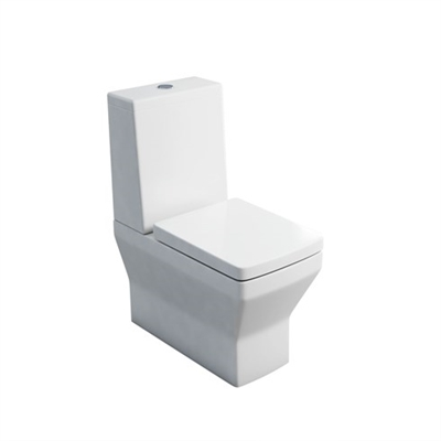 Britton Cube S20 Close Coupled WC with Standard Lid Cistern & Soft Close Seat