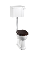 Burlington Low Level Pan with Standard Lever Cistern and Low Level Flush Pipe Kit